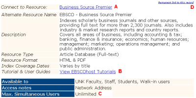 Informational page view