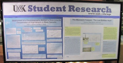 Image of student research posters.