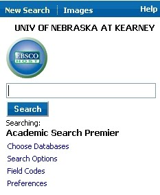 EBSCOhost Mobile interface