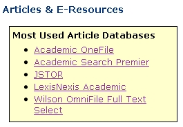 Most Used Databases list