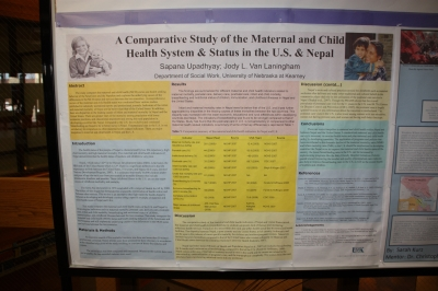 A Comparative Study of the Maternal and Child Health System & Status in the U.S. & Nepal. Sapana Upadhyay, student researcher. Dr. Jody L. Van Laningham, faculty mentor, Department of Social Work.